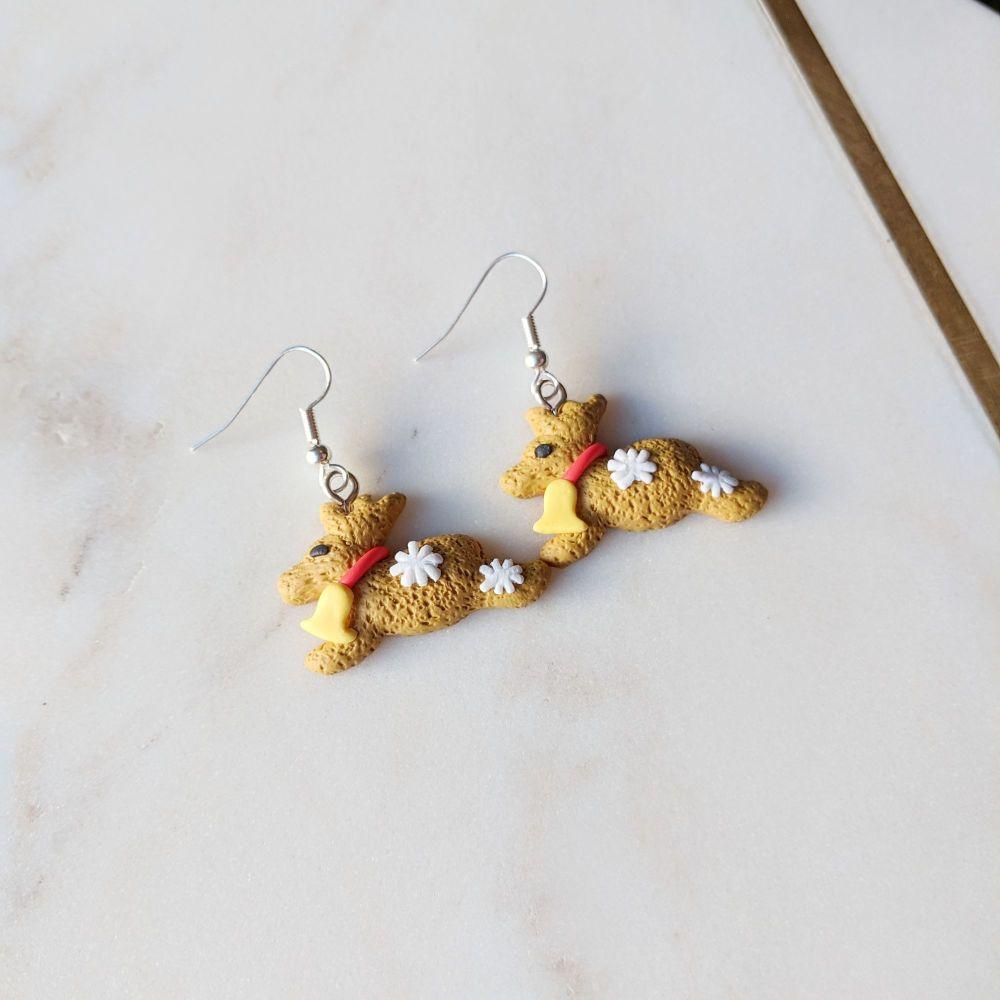 Gingerbread Reindeer Earrings