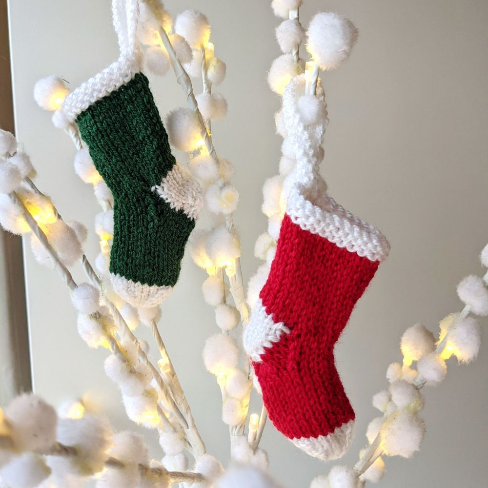 Hand Knitted Mini Stocking!
