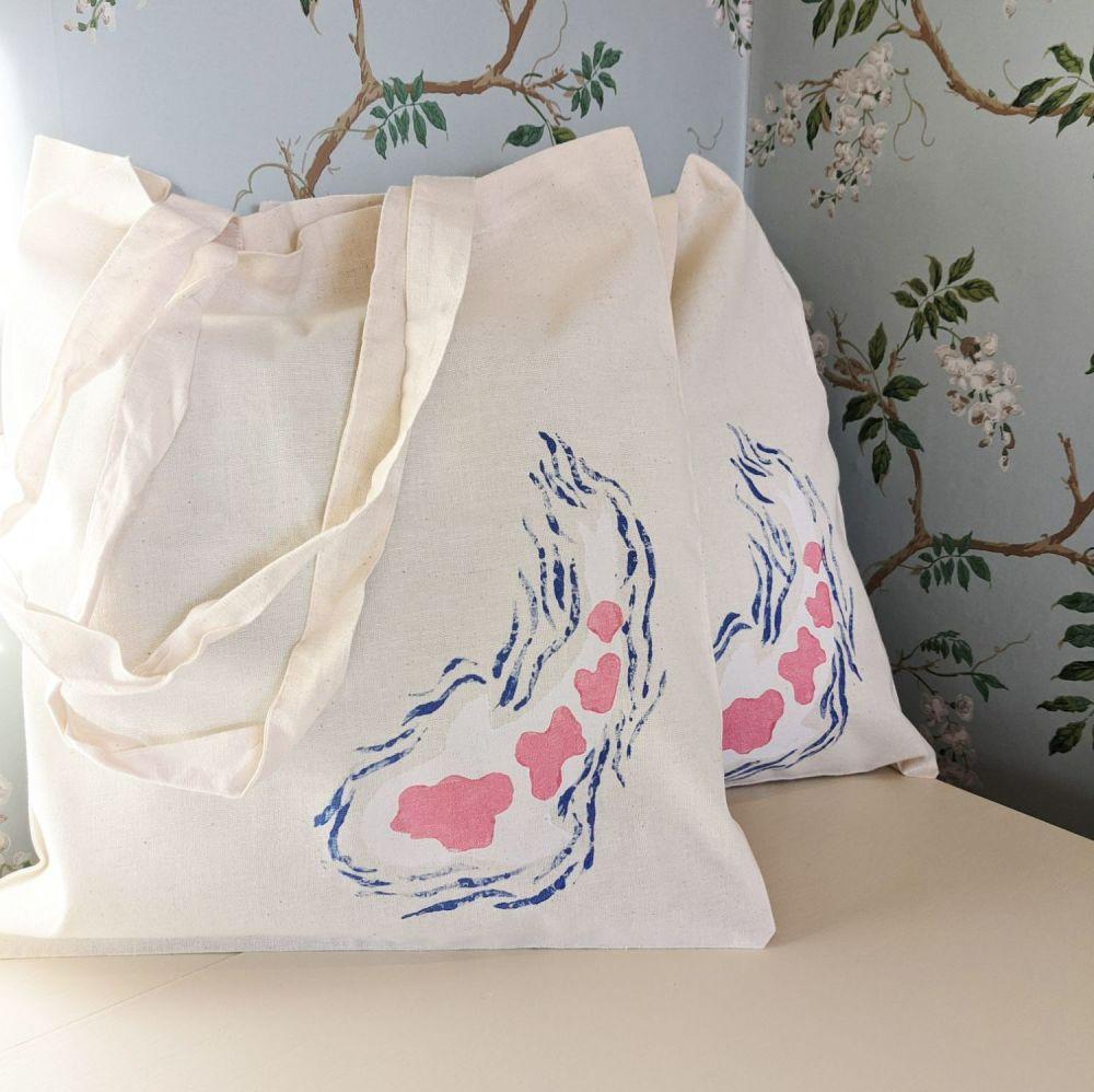 Hand Painted Koi Bag - Kohaku