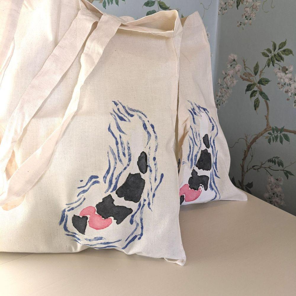 Hand Painted Koi Bag - Tancho Showa