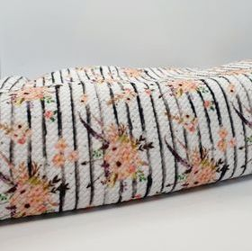 Floral Stripes Bullet Fabric