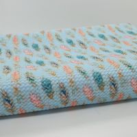 Blue Feather Bullet Fabric