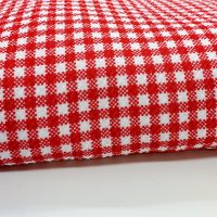 Red Gingham Bullet Fabric