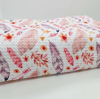 Pink Feather Bullet Fabric