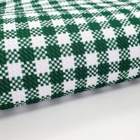 Green Gingham Bullet Fabric - SALE