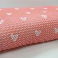 Pink Heart Bullet Fabric - SALE