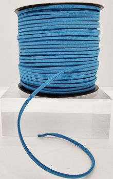 Blue Faux Leather Cord
