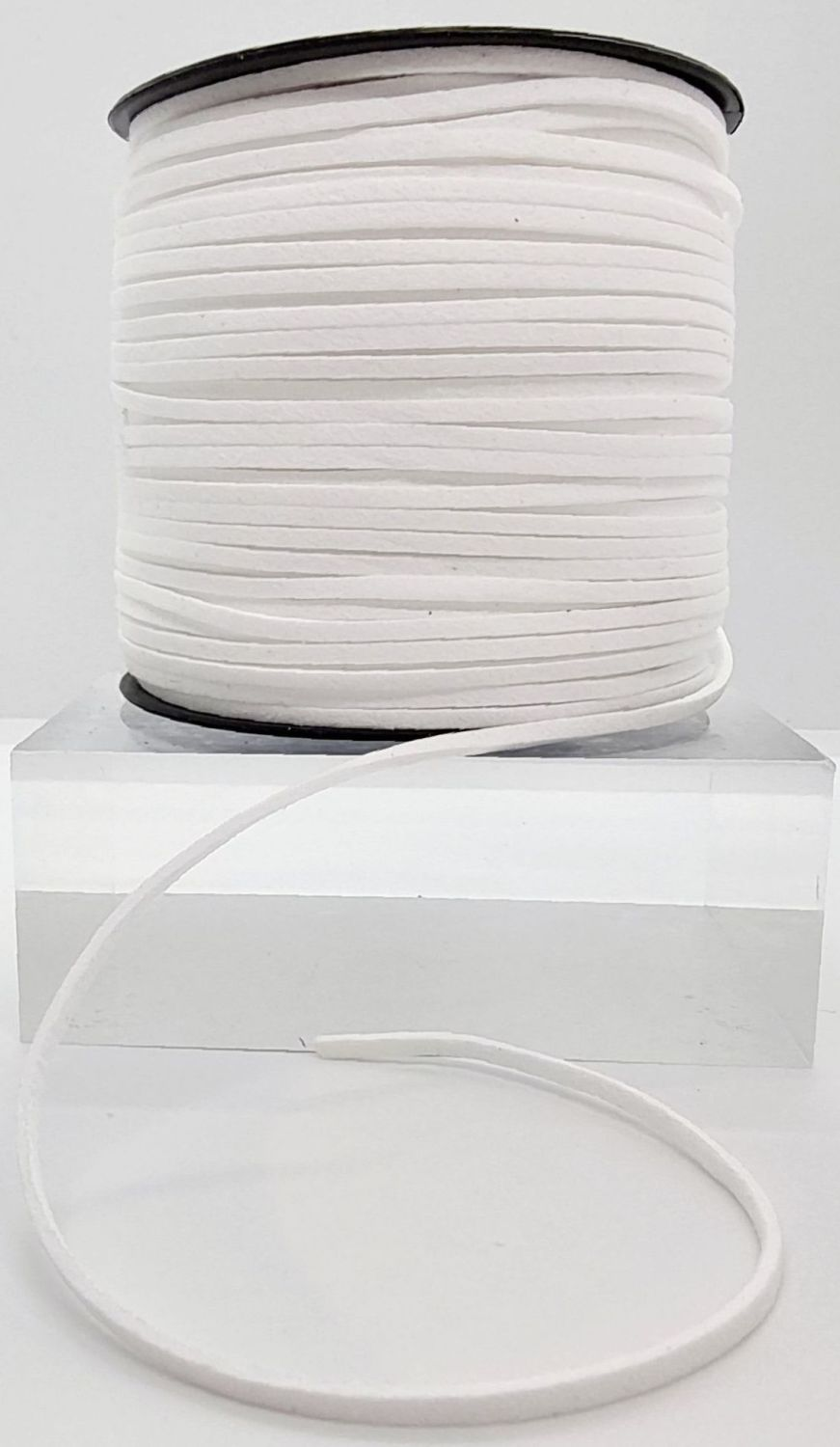White Faux Leather Cord