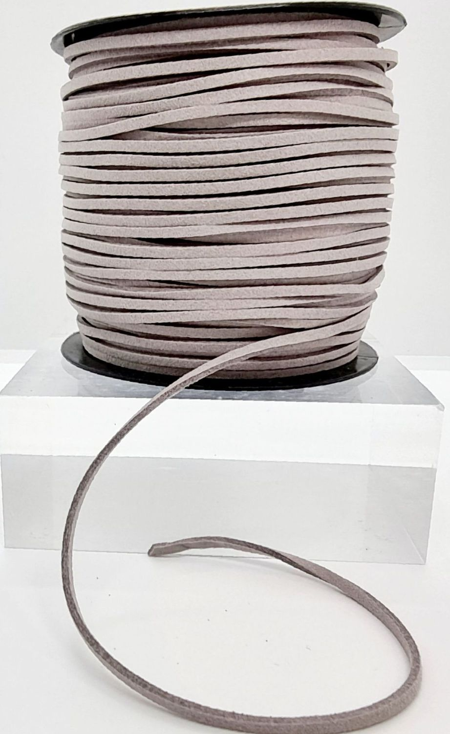 Grey Faux Leather Cord