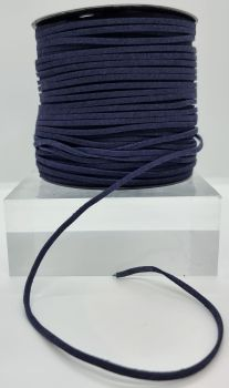 Navy Faux Leather Cord