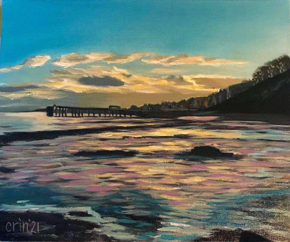 Pier in Sunset Print