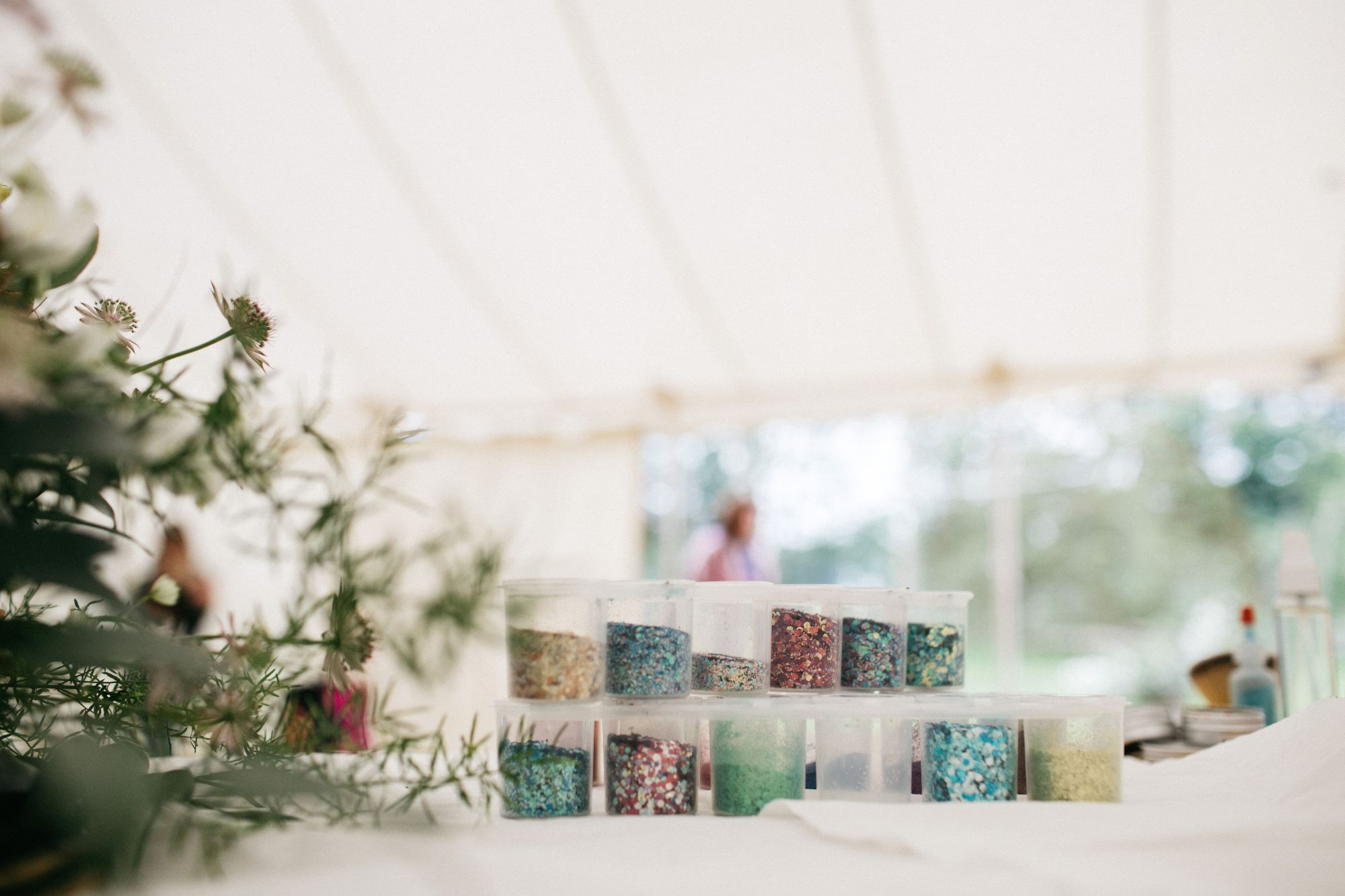 Biodegradable glitter used in thelitter Bar