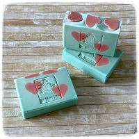 LOVE Spruce & Mint Hearts Soap