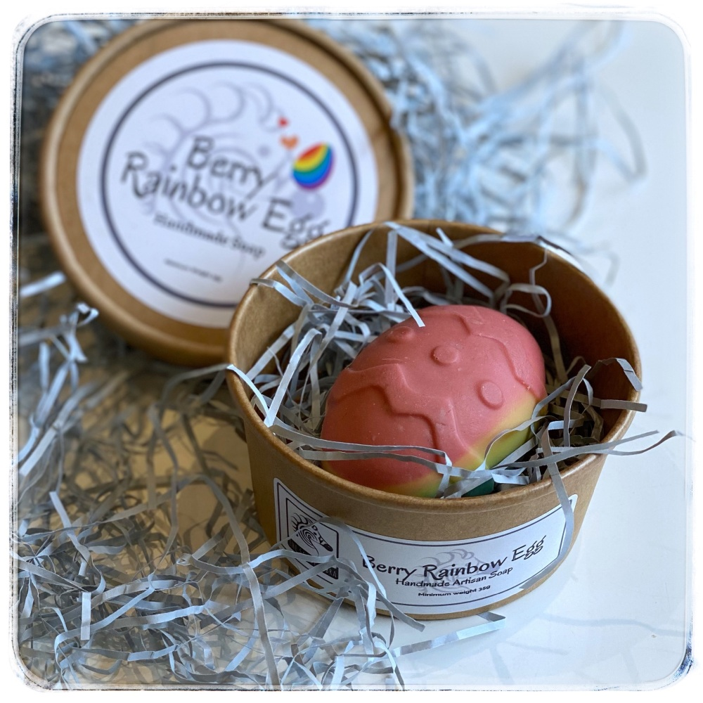 Berry Rainbow Egg Soap