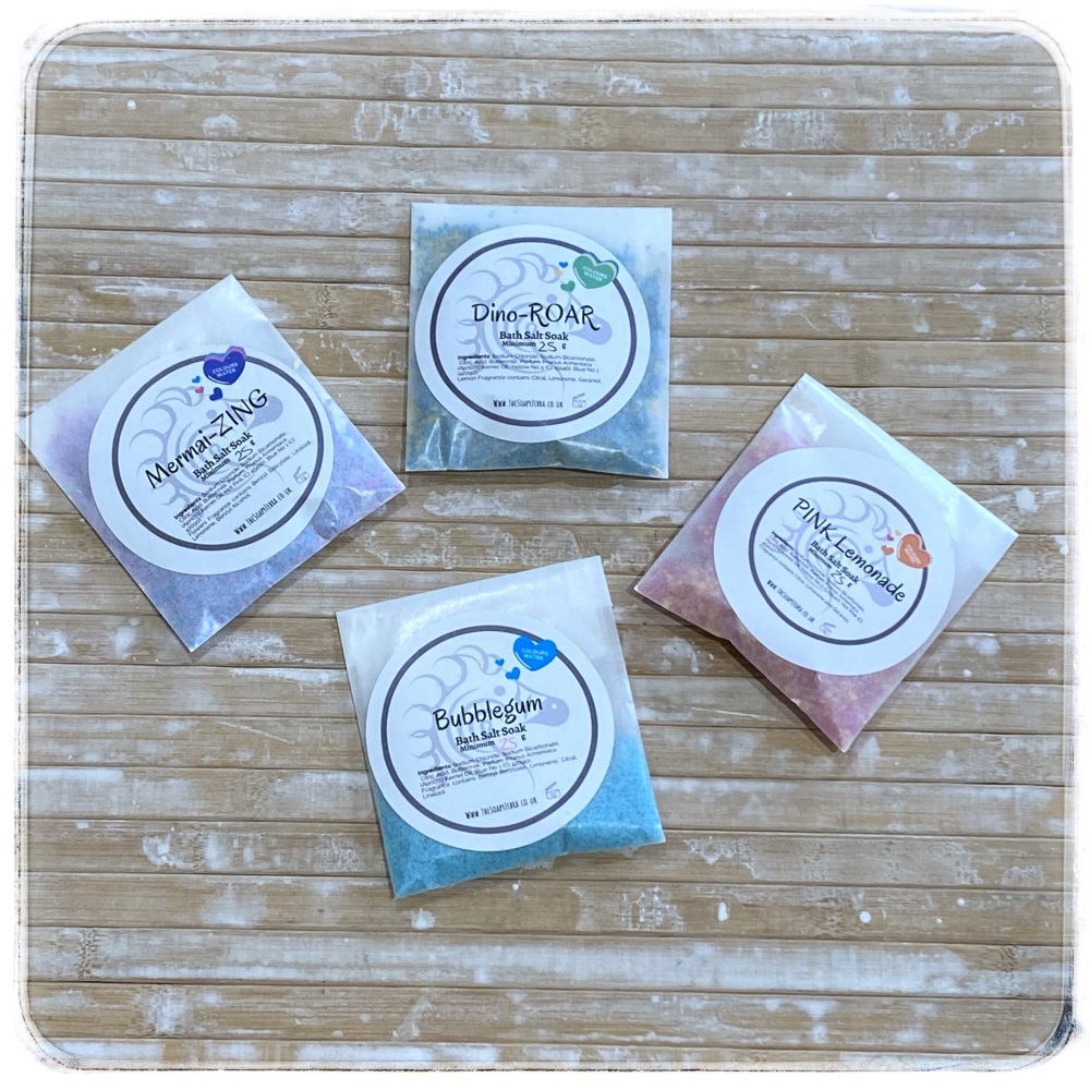 Magic Salt Soak sample set 4x25g