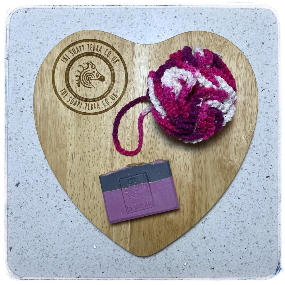 Belle Rose Soap and Bath Puff Duo