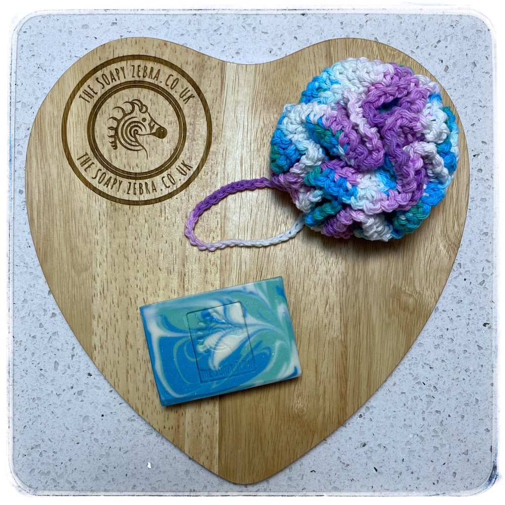 Double Mint Soap and Bath Puff Duo
