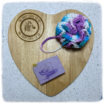 Lavender Musk Soap and Bath Puff Duo