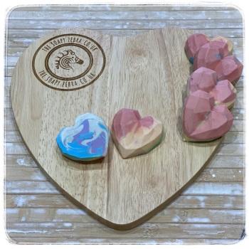 Berry Rainbow Hearts Soap