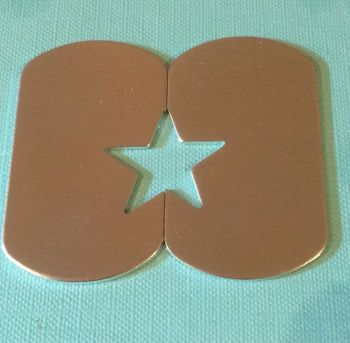 Dog Tag Blanks with a 23mm Star Cut Out