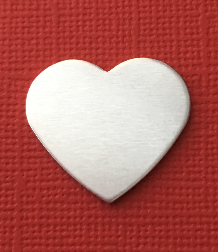 15mm Heart Stamping Blank STYLE 2