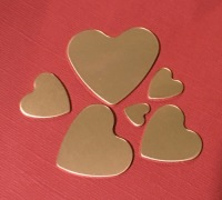 Copper Heart Stamping Blanks 28mm