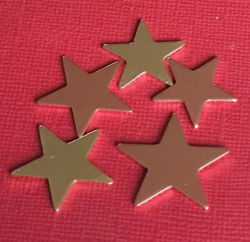 Copper Star Stamping Blank 22mm