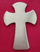 Large Cross Stamping Blank - 43mm by 30mm