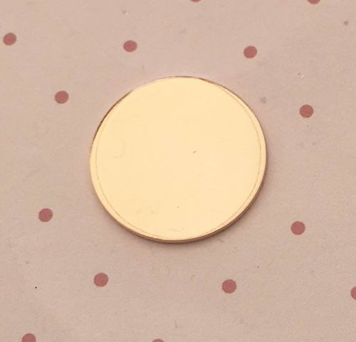 Copper Round Stamping Blank 25mm