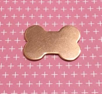 Copper Dog Bone Blank
