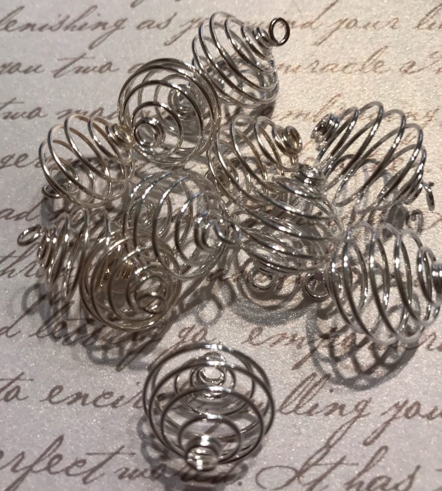 Pack of 10 Bead Cages 14mm