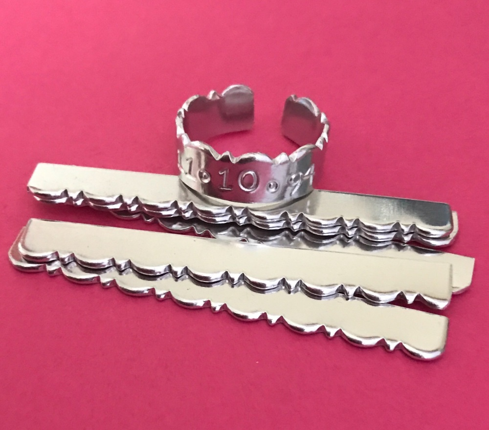 Fancy Edge Ring Blank 60mm by 6mm Aluminium