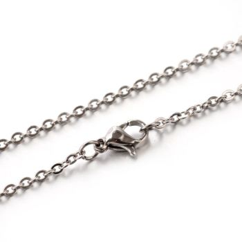 "18"" Stainless Steel Cable Chain - 2mm Links"