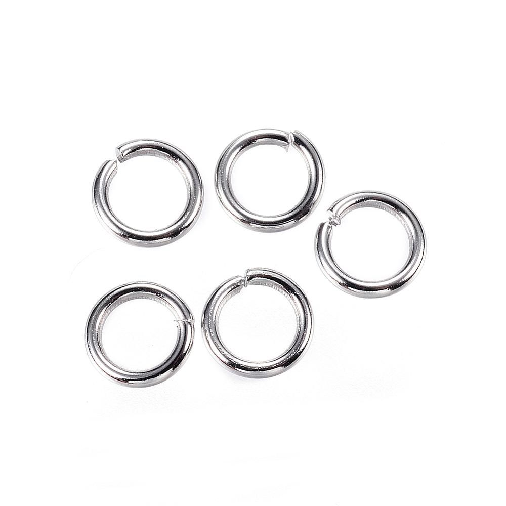 Strong Stainless Steel Jump Rings 6mm - 100 Pack