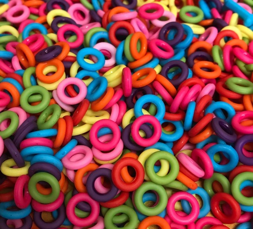 Pack of 100 Acrylic Jump Rings