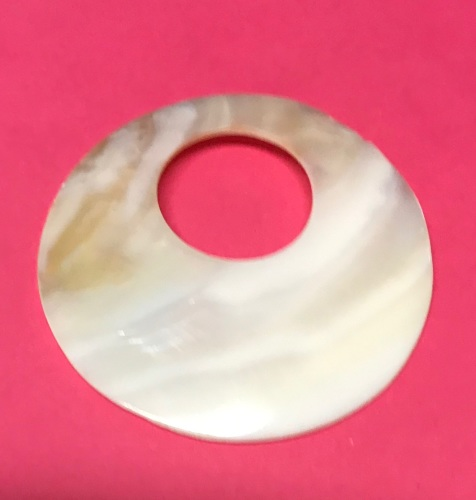Large Shell Donut Pendant