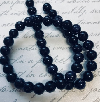 "15"" Strand Blue Goldstone 6mm Beads"
