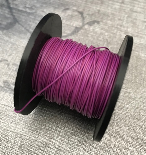 Opaque Purple 0.5mm Coloured Copper Wire