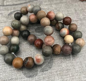"""15"""" Strand of 8mm Ocean Jasper Gemstone Beads"""