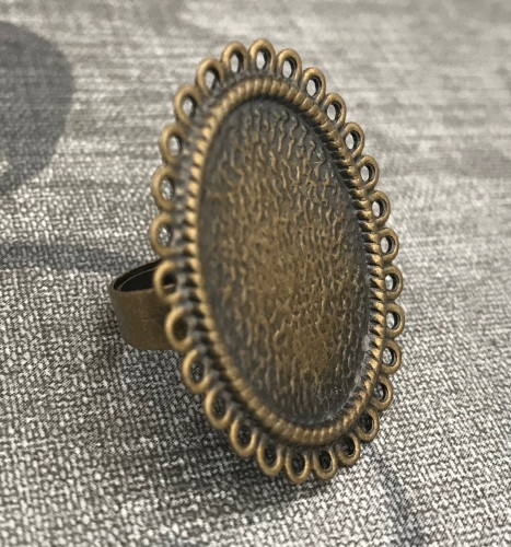 Antique Bronze Cameo Ring