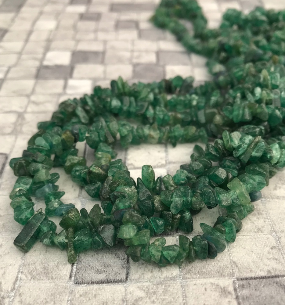 Green Aventurine Nugget Chips Beads
