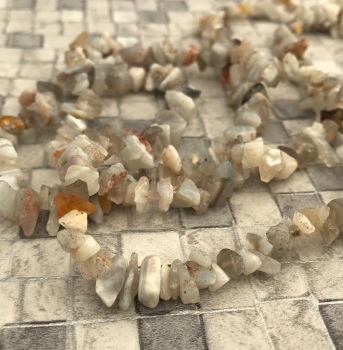 "32"" strand of Botswana Agate Chips"