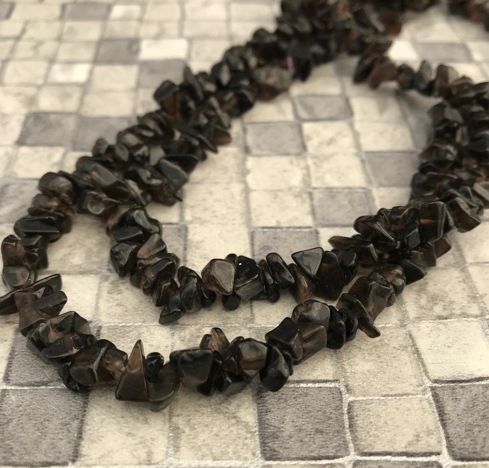 Smokey Quartz Chip Beads