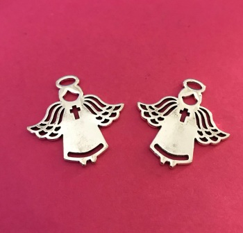 Angel Charms with Cross