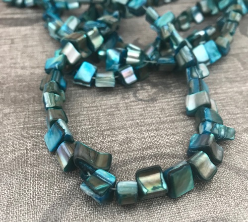 Aqua Shell Nuggets Strand