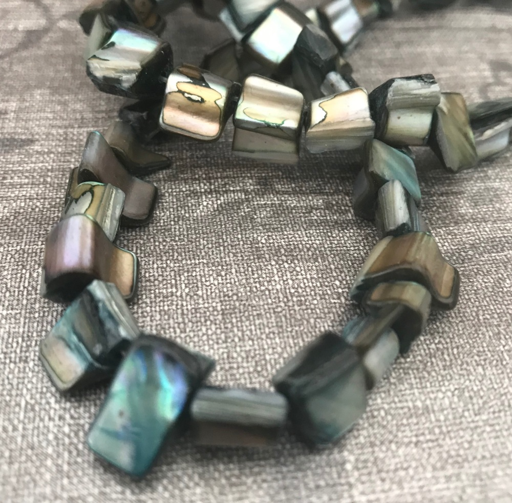 Teal Shell Nuggets Strand
