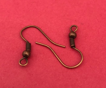 50 Pack Copper Plated Earwires