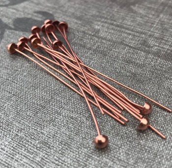 Rose Gold Plated Large Dome Ended 50mm Headpins