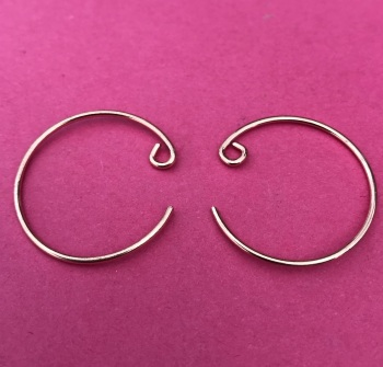 Pack of 10 Rose Gold Plated Hoop Earwires