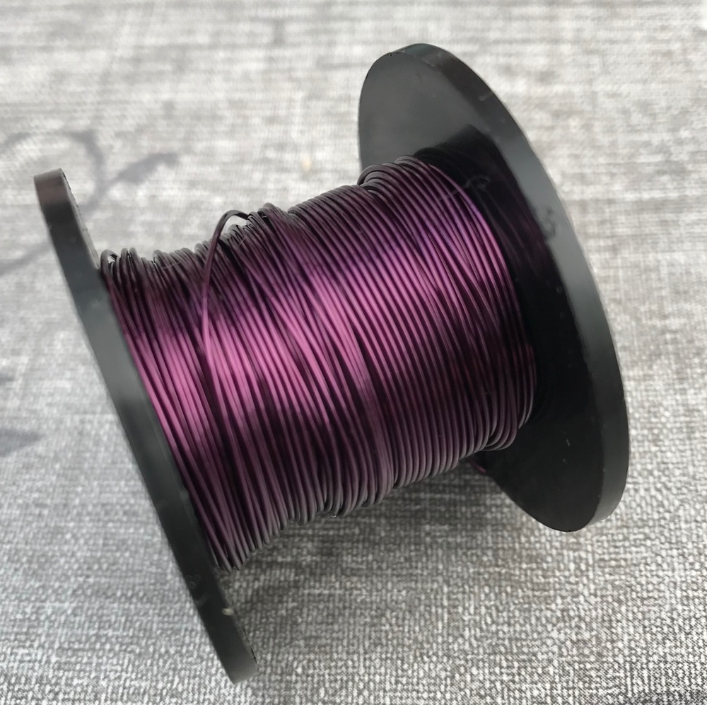 Dark Purple Coloured Copper Wire 0.5mm